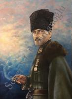 Atatürk Potresi 80*100 Yağlı Boya