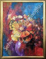 60*80 Soyut Çiçekler