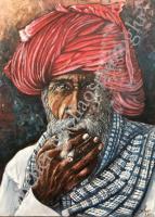 60*80 Sigara İçen Adam