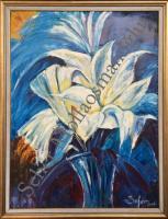 60*80 Spatula Tekniğiyle Çiçekler