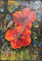 Spatula Çalışması Çiçekler 50*70