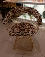 İki parça leopar desen tekli koltuk takımı alanya züccaciye