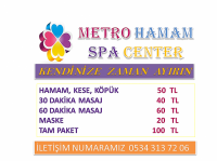MASAJ , HAMAM , TURKISH BATH , SAUNA , SPA ALANYA