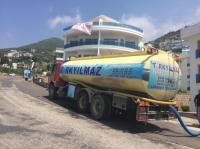 Türkyılmaz temiz su taşımacılığı olarak 24 saat alanya halkının hizmetindeyiz
